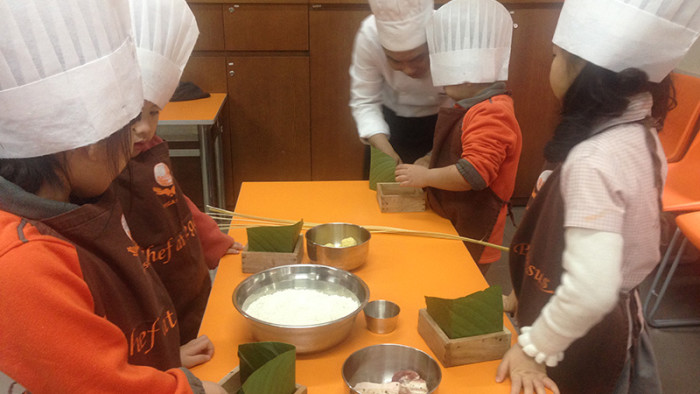 Making Chung Cake