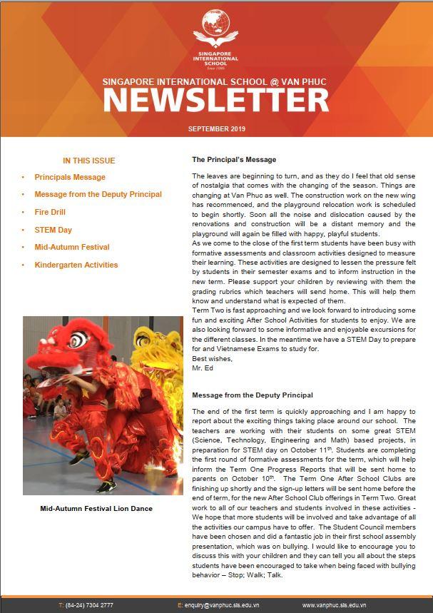 Newsletter 9.19